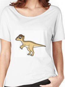 Cute illustration of a Pachycephalosaurus dinosaur. Women's Relaxed Fit T-Shirt