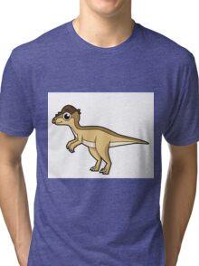 Cute illustration of a Pachycephalosaurus dinosaur. Tri-blend T-Shirt