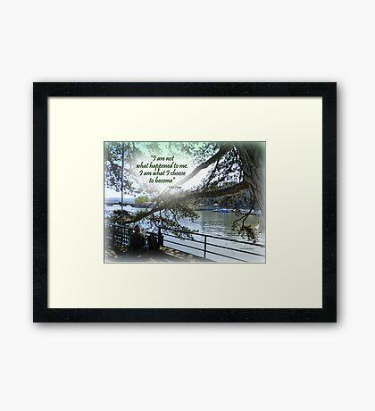 CHOICE Framed Print