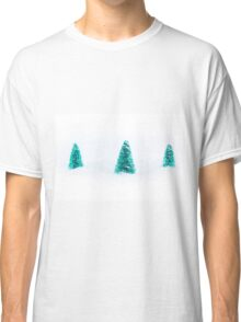 Christmas trees in snow Classic T-Shirt