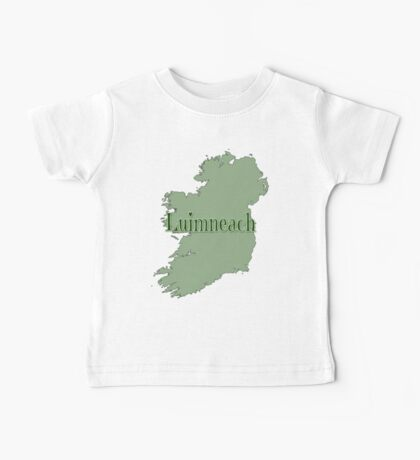 Luimneach Ireland with Map of Ireland Baby Tee