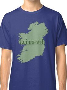 Luimneach Ireland with Map of Ireland Classic T-Shirt