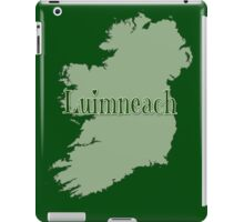 Luimneach Ireland with Map of Ireland iPad Case/Skin