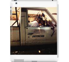 Gardener's truck iPad Case/Skin