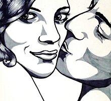 Kiss on the cheek by Mónika Rikk