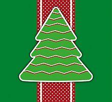 Christmas tree applique background by alijun