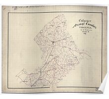 Civil War Maps 0337 Culpeper and Orange Counties Virginia Poster