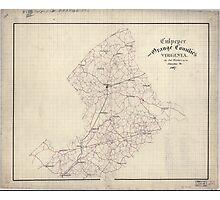 Civil War Maps 0337 Culpeper and Orange Counties Virginia Photographic Print