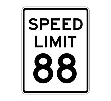 Speed Limit 88 Photographic Print