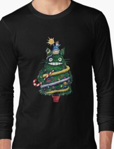 Totoro Christmas Tree Long Sleeve T-Shirt