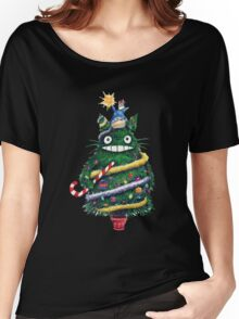 Totoro Christmas Tree Women's Relaxed Fit T-Shirt