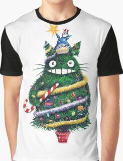 Totoro Christmas Tree Graphic T-Shirt