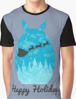 Totoro Christmas holiday Graphic T-Shirt