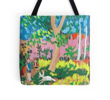 Dog Day in the Park Tote Bag