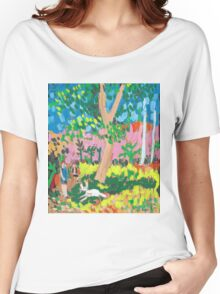 Dog Day in the Park Women's Relaxed Fit T-Shirt