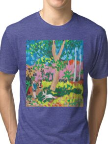 Dog Day in the Park Tri-blend T-Shirt