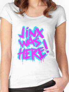 JINX WAS HERE Women's Fitted Scoop T-Shirt