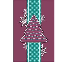 Christmas tree applique background Photographic Print