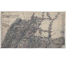 Civil War Maps 1011 Map of the vicinity of Strasburg and Fisher's Hill Photographic Print