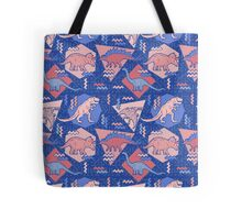 90's Dinosaur Pattern - Rose Quartz and Serenity version Tote Bag