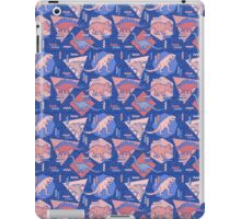 90's Dinosaur Pattern - Rose Quartz and Serenity version iPad Case/Skin