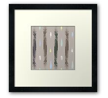 Dry brush hand drawn sketch artsy pattern neutral colours Framed Print