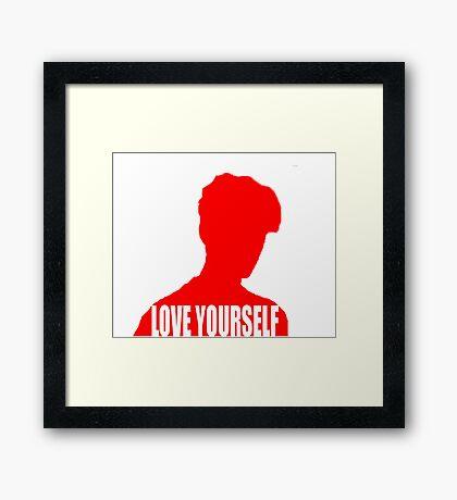 Love Yourself (Justin Bieber) Framed Print