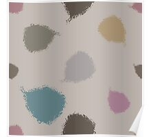 Dry brush hand drawn sketch artsy pattern neutral colours Poster