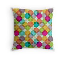 colourful round patterned image Throw Pillow