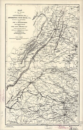 Civil War Maps 0941 Map Of The Region Between Gettysburg