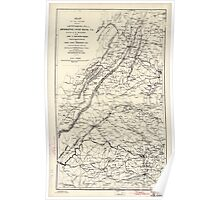 Civil War Maps 0941 Map of the region between Gettysburg Pa and Appomattox court house Va including all the battle-fields sic of the Army of Northern Virginia Poster