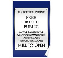 Tardis Sign/ Policebox Notice Poster