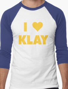 I LOVE KLAY Thompson Golden State Warriors Basketball Men's Baseball ¾ T-Shirt