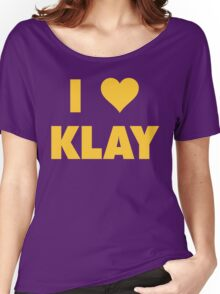 I LOVE KLAY Thompson Golden State Warriors Basketball Women's Relaxed Fit T-Shirt