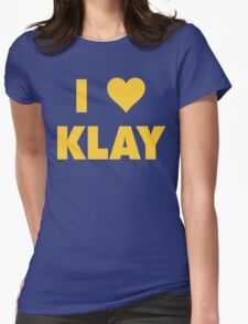 I LOVE KLAY Thompson Golden State Warriors Basketball Womens Fitted T-Shirt
