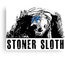 Stoner Sloth exam Canvas Print