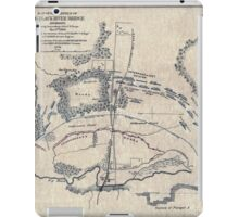 Civil War Maps 0666 Map of battlefield of Big Black River Bridge Mississippi showing the positions of the US troops May 17th 1863 iPad Case/Skin