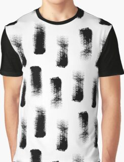 Dry brush hand drawn sketch artsy pattern black and white Graphic T-Shirt