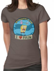 Spongebob's Gym Womens Fitted T-Shirt