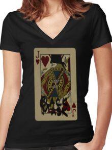 DareDevil - Black Mask Women's Fitted V-Neck T-Shirt