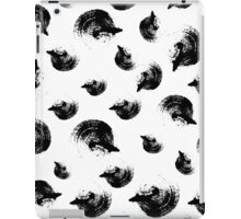 Dry brush hand drawn sketch artsy pattern black and white iPad Case/Skin