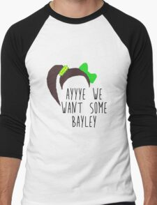 NXT Bayley 'ayyye we want some Bayley' design Men's Baseball ¾ T-Shirt