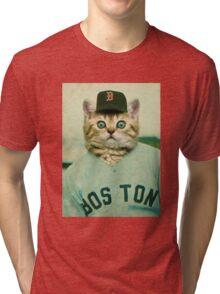 Baseball Cat Tri-blend T-Shirt
