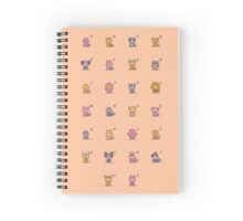 Pixel Animal Kids Spiral Notebook