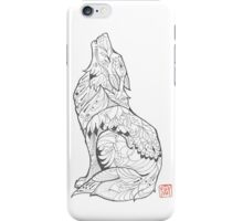 Feathered Wolf Tattoo Design iPhone Case/Skin