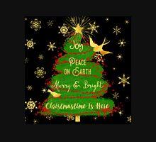 Christmas Tree, Joy, Peace on Earth, text art Unisex T-Shirt