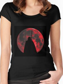 Star Wars: Darth Vader Moon Women's Fitted Scoop T-Shirt
