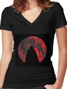 Star Wars: Darth Vader Moon Women's Fitted V-Neck T-Shirt