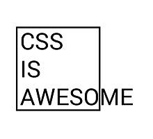 CSS is Awesome Photographic Print