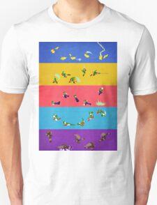 Smash Bros Melee Character Poster THREE T-Shirt